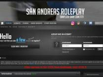 SAMP сервер San Andreas Roleplay